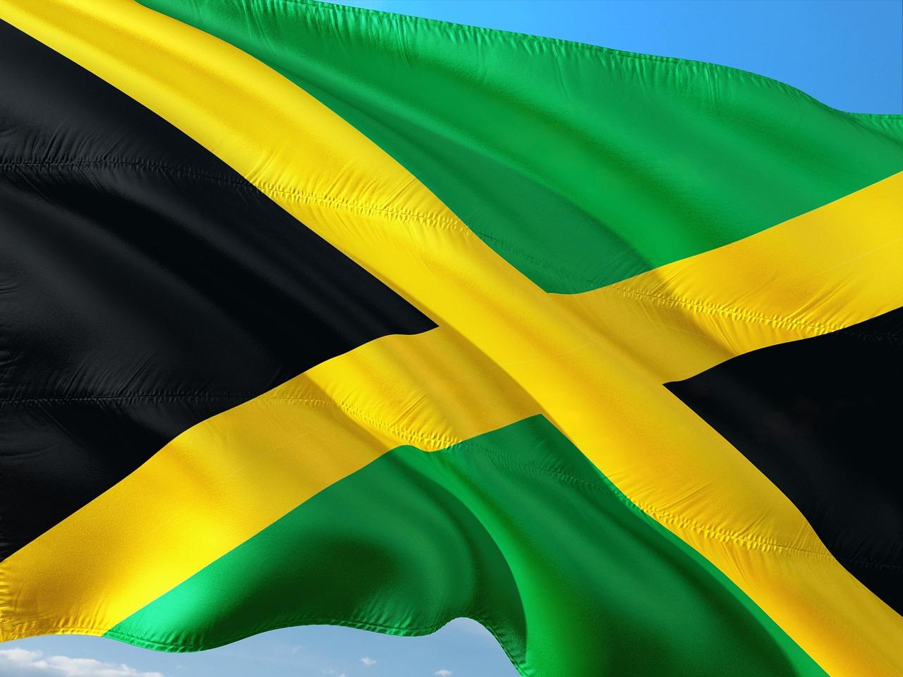 Bild: Flagge von Jamaika (schwarz-grün-gelb)